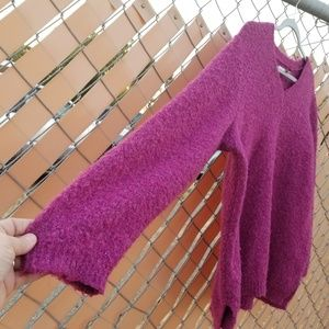 Sonoma Sweaters - Sonoma Life+Style V-neck Fuzzy Pink Sweater